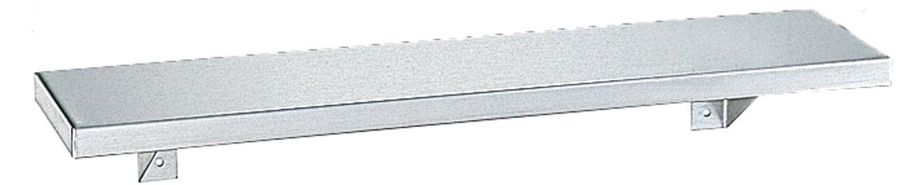Bobrick 295 Stainless Steel Shelf, Satin Finish, 16'' Length x 5'' Width