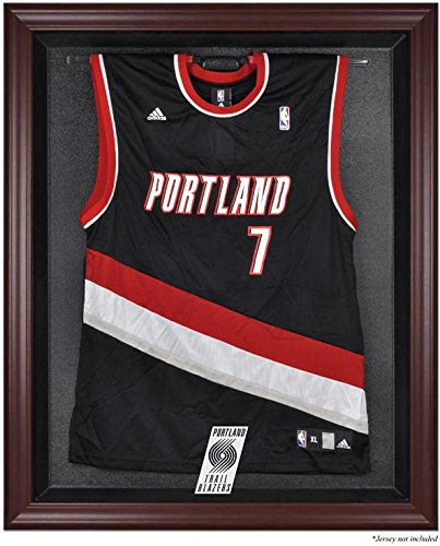 Portland Trailblazers Mahogany Finished Logo Jersey Display Case by Sports Memorabilia