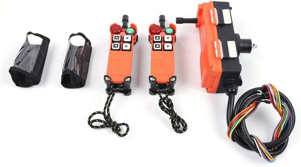 WINUS 110V 2pcs Transmitter Receiver Radio Industrial Wireless Remote Control Crane 4 Keys US Stock