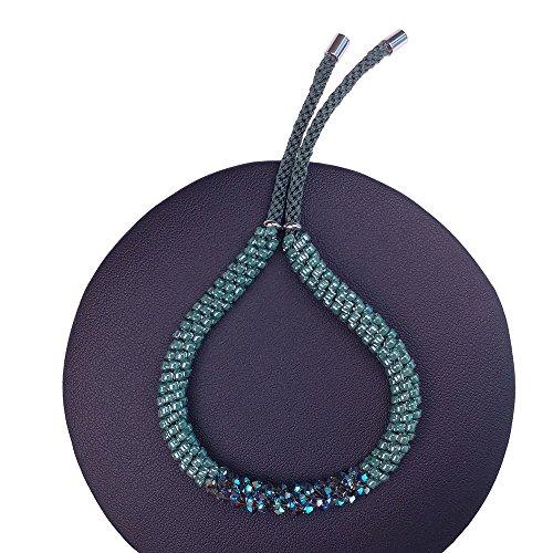 Forest Green Bracelet made with Swarovski Crystals