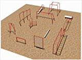 Sport Play 511-215 Complete 12 Unit Fitness Course - Galvanized
