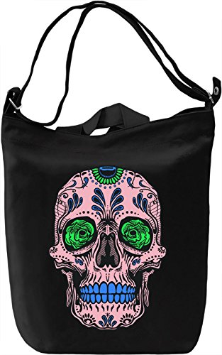 Sugar Skull Borsa Giornaliera Canvas Canvas Day Bag| 100% Premium Cotton Canvas| DTG Printing|
