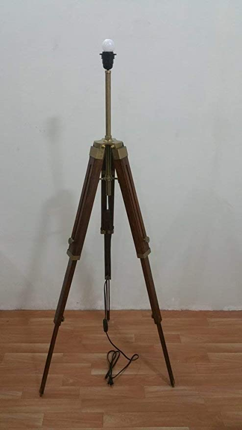 Amazon.com: MIR Antique Nautical Floor Shade Wooden Tripod ...