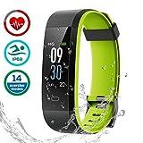 CHEREEKI Fitness Tracker, Smart Band IP68 Waterproof Heart Rate Monitor Smart Watch Activity