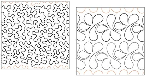 (Quilting Creations Pantographs for Quilting | Set of 2 Rolls of Paper Pantograph Patterns for Longarm Quilting Machines | Basic Stipple and Splish Splash Quilt Pantographs)