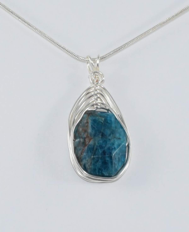 Blue Stone Pendant Apatite Rough Pendant Labradorite Pendant Blue Fire Stone Pendant Lenght-3inch RR Multi Stone Pendant Brass Pendant