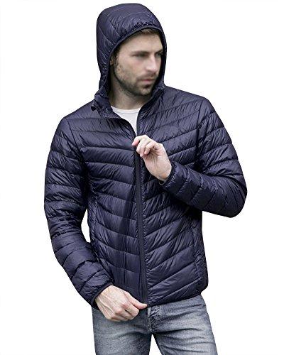Pour Légère Veste Bleu Longues Manches marine Manteau Chaud Ultra Doudoune Homme D'hiver Blouson zRUwnxa5q6