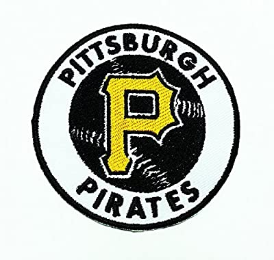 Pittsburgh Pirates Round Patch Embroidered Iron on Hat Jacket Hoodie Backpack Ideal for Gift/ 7.5cm(w) X 7.5cm(h)