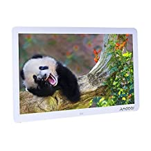 "Andoer 15"" Wide Screen HD LED Digital Picture Frame Digital Album 1280*800 Electronic Photo Frame with Remote Control Multiple Functions Including LED Clock Calendar MP3 MP4 Movie Player"