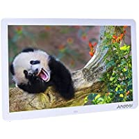 Andoer 15 inch Wide Screen HD LED Digital Picture Frame High Resolution 1280 x 800 with Remote Control and CR2025 ontroller Battery