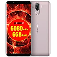 Ulefone Power 3 Cell Phone 6.0 inch 18:9 FHD P23 Octa Core 6GB RAM 64GB ROM Smartphone 21MP Quad Camera Face ID 4G Mobile Phone (Gold)