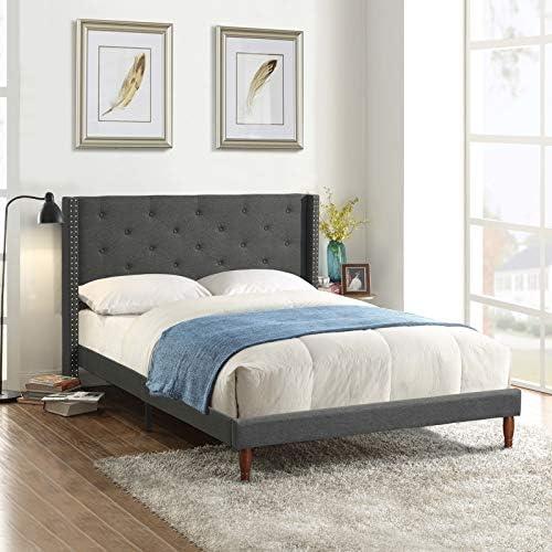 IPKIG Full Size Platform Bed Frame
