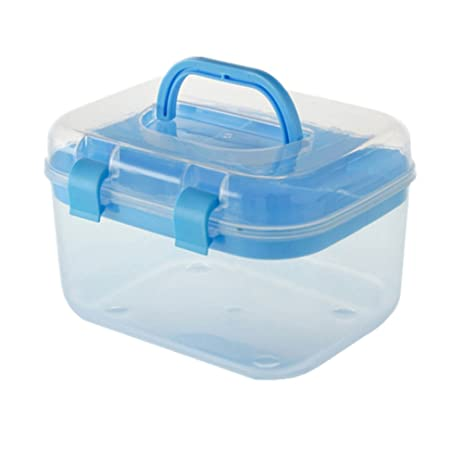 Storage Box, PYRUS Cosmetic Box Transparent Home Multilayer Medical  Containers(Random Color)