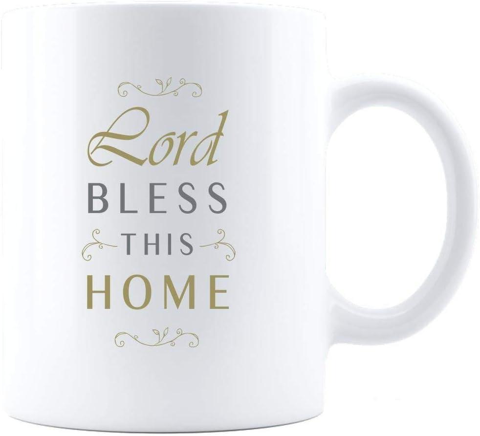 Mug-White Ceramic Customized 11oz Mug, Lord Bless This Home, Coffee Mug, 11oz Funny Coffee Mug