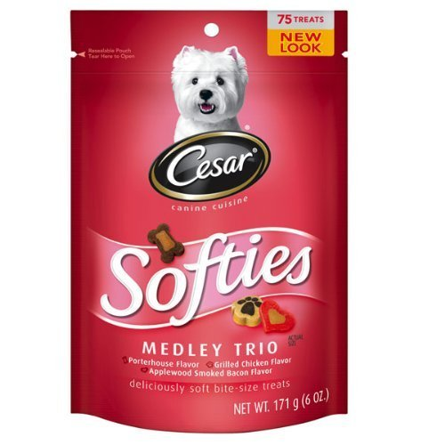Cesar Softies Medley Dog Treat, 6oz Pouches (Pack of 8) by Mars Petcare (English Manual)