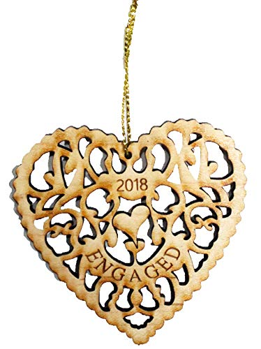 Heart Shaped Wood Ornament