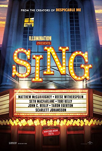 Sing Original Movie Poster - Dbl-Sided - Scarlett Johansson - Matthew McConaughey - Nick