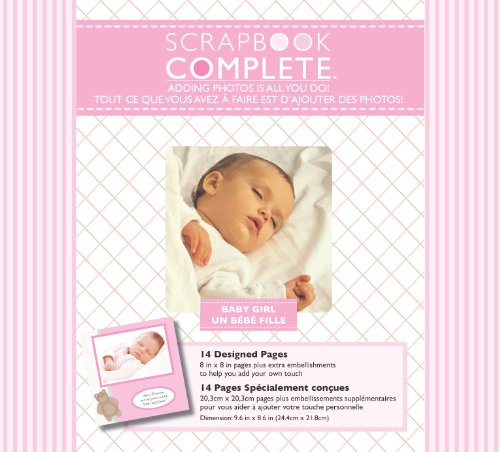 Tapestry by CR Gibson Baby Girl Complete Scrapbook Kit, 8 by 8-Inch