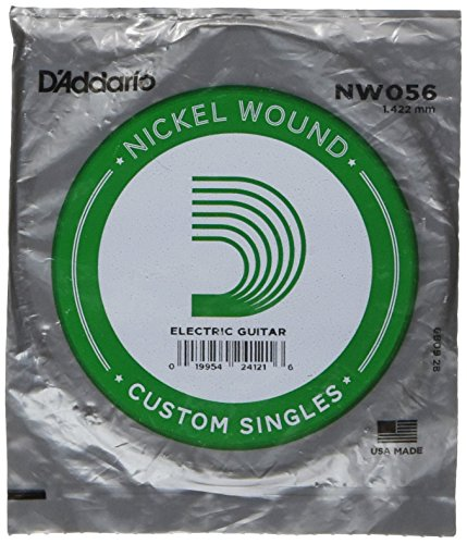 D'Addario NW056 Nickel Wound Electric Guitar Single String, .056