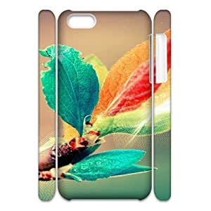 Iphone 5C Case 3D, Colorful Leaves Case for Iphone 5C white lm5c171733