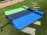 Freeland Camping Self Inflating Sleeping Pad with Attached Pillow Lightweight Air Sleeping Pads