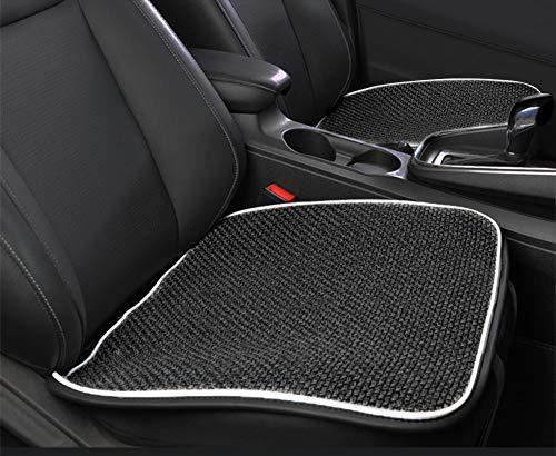 Cojin universal para asiento de coche, transpirable, comodo, para asiento de coche, funda de lino para cuatro estaciones, protector para asiento de coche, silla de oficina, sin respaldo