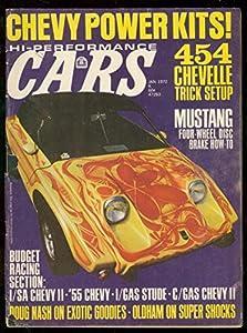 HI-PERFORMANCE CARS MAGAZINE JAN 1972-454 CHEVELLE-NHRA G