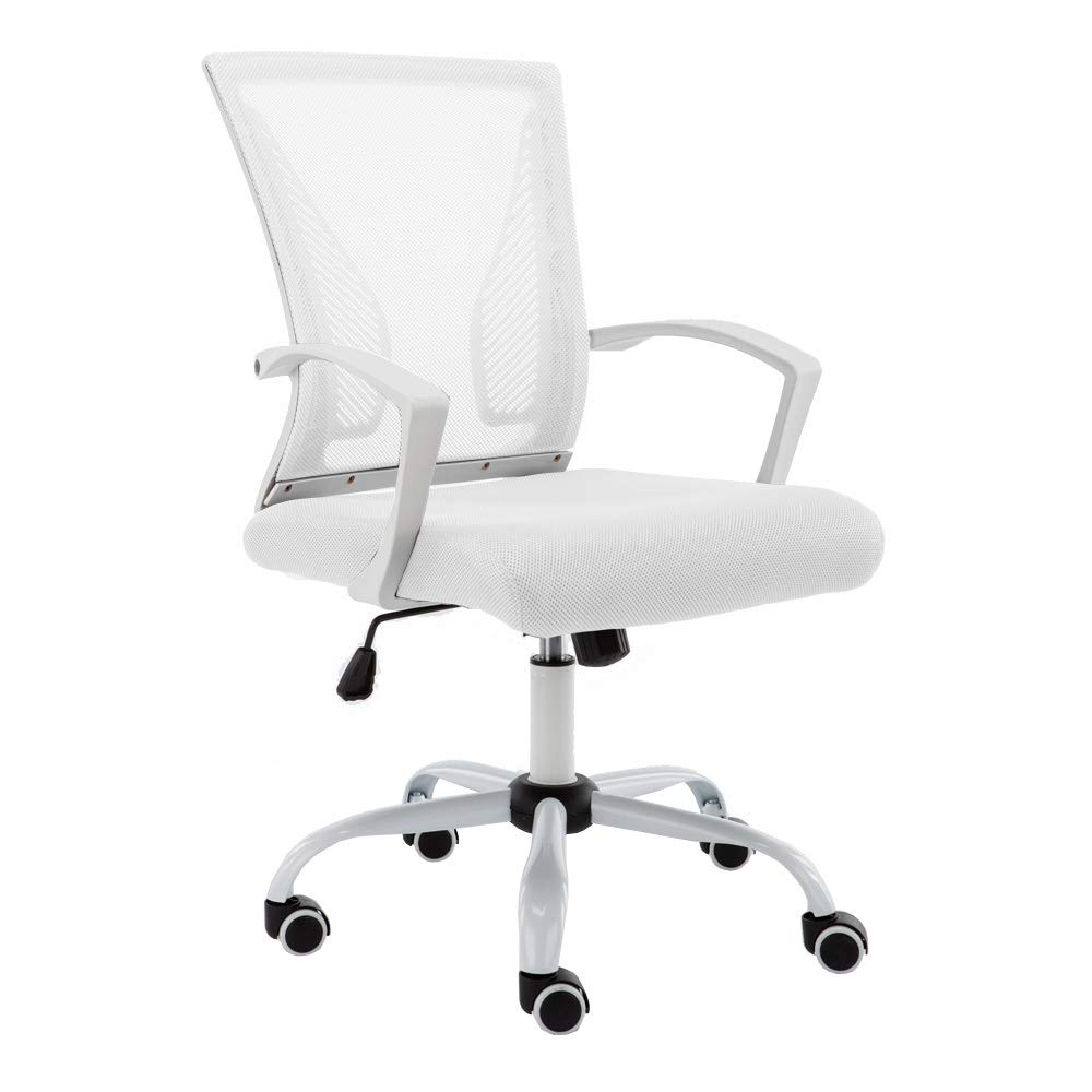 Modern Home WHWHITE Zuna Mid - Back Office Chair White