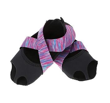 Yoga Wrap Schuhe Yoga Pilates Socken mit Zehen Soft Wrap Barre Dance Training Schuhe mit Griffen f/ür Pilates Ballett Barre Studio M/änner Frauen Tbest Yoga Socken Damen Anti Rutsch Yoga Schuhe