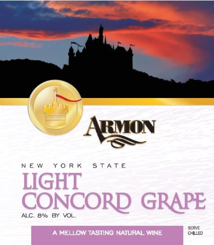 NV Armon Light Concord New York Red Sweet Table Wine Kosher