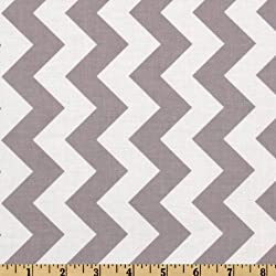 Riley Blake Designs Riley Blake Chevron Medium Fabric by The Yard, Gray