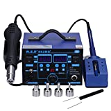 KEDSUM 862BD+,720W ,110V Digital Display Soldering Station, Rework Soldering Station Hot Air Gun & Solder Iron Tools with Manual/Automatic,0-99 Minutes Sleep and Temperature Correction Function