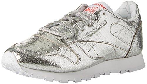 Snowy White Red Argent Primal Femme HD Reebok Cl Silver de Grey LTHR Chaussures Running Met UqFnvBZx
