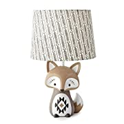 Levtex Baby Bailey Charcoal Arrow Print Lamp Shade and Taupe Fox-Shaped Lamp Base