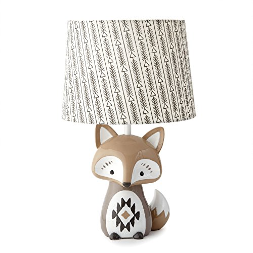 - Levtex Baby Bailey Charcoal Arrow Print Lamp Shade and Taupe Fox-Shaped Lamp Base