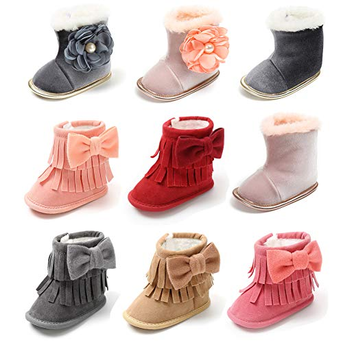 Pictures of Sawimlgy Infant Girls Warm Winter Snow Booties 1