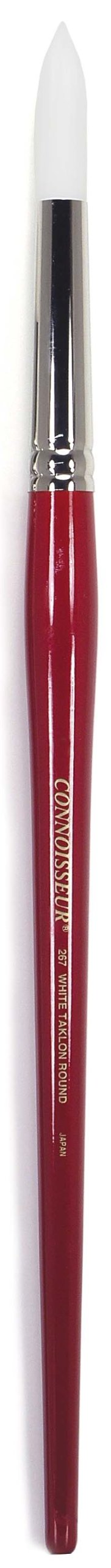 Connoisseur White Taklon All Media Brush, 4 Round by Connoisseur