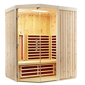 Infraworld–triosol unica2Zirbenkissen cabina de infrarrojos infrarrojos sauna térmica cabina 390137, Breite 154 750.0 watts
