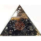Black Tourmaline Crystal Orgone Pyramid Kit/Includes 4 Crystal Quartz Energy Points/EMF Protection Meditation Yoga Energy Generator