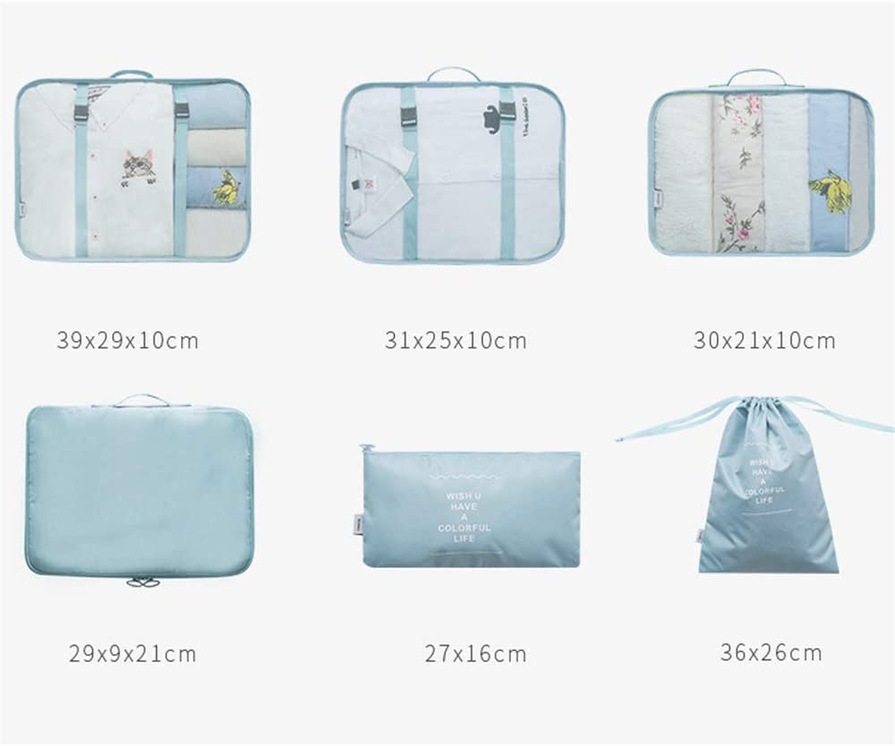 Packing Cubes Zhhlinyuan 6 Set Travel Organizer Luggage Compression Storage Bag