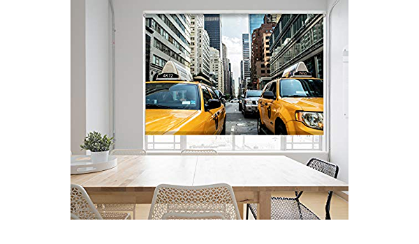 New York Taxi Brooklyn printed photo picture window roller blind made to measure