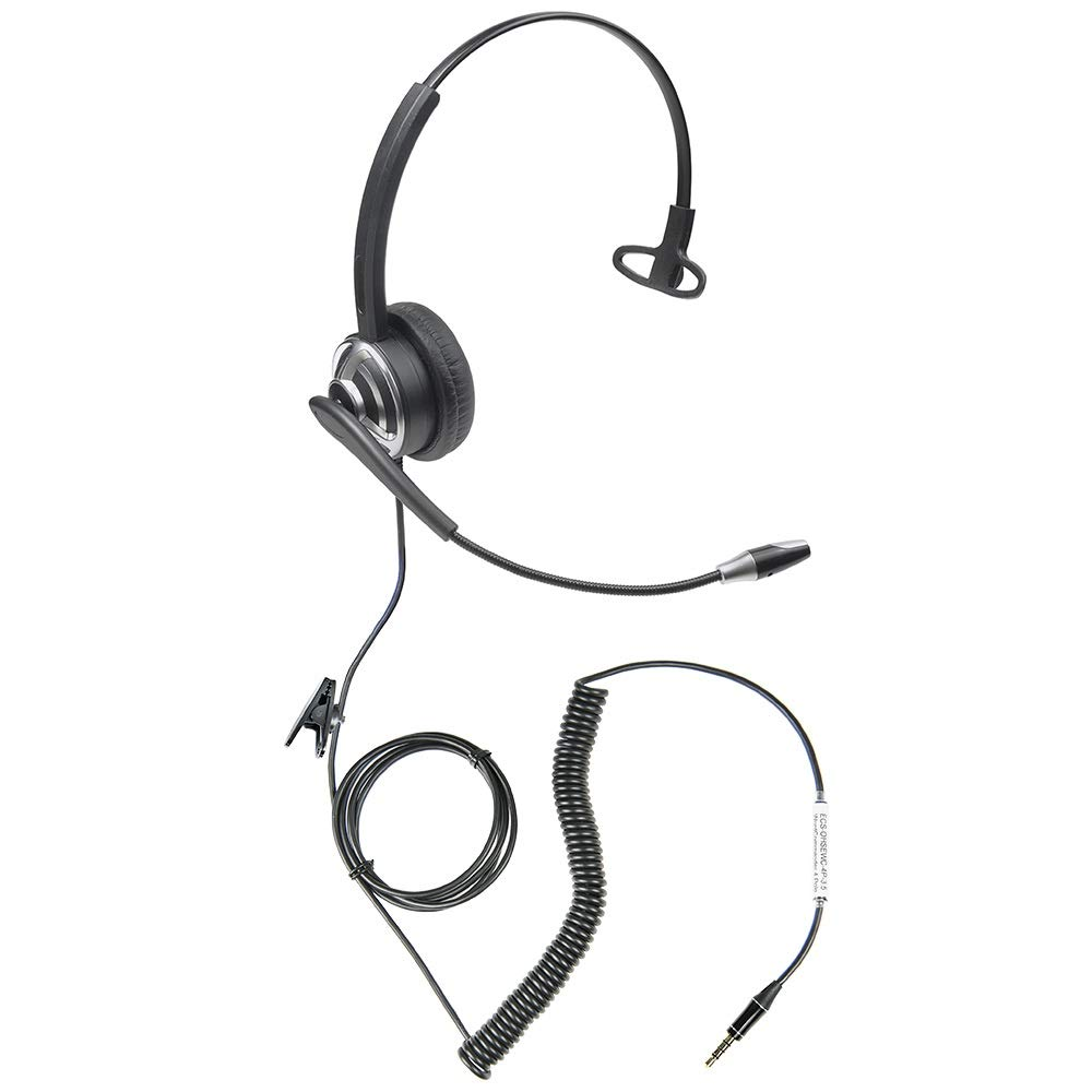 Professional WordCommander 3.5mm 4 pole Voice to Text Dictation Headset for Smartphones and Tablets Executive Communication Systems WordCommander 4 Pole