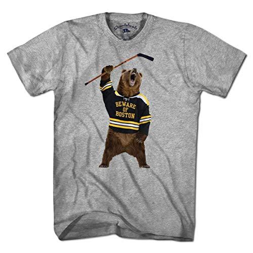 Bruins T-shirts - Beware of Boston Bear T-Shirt by Chowdaheadz - M