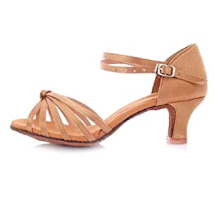 high heel shoes/Women's soft leather ballroom dance at the end of dance shoes-B Foot length=24.8CM(9.8Inch)