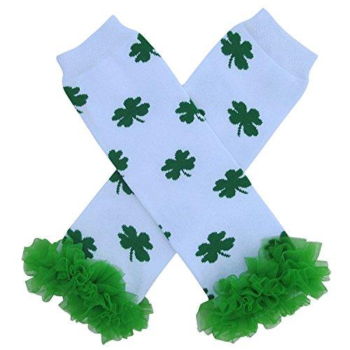 Shamrock St. Patrick's Day Irish Leg Warmers, One Size, Baby, Toddler, Girl, Boy (Tutu Chiffon Shamrock)
