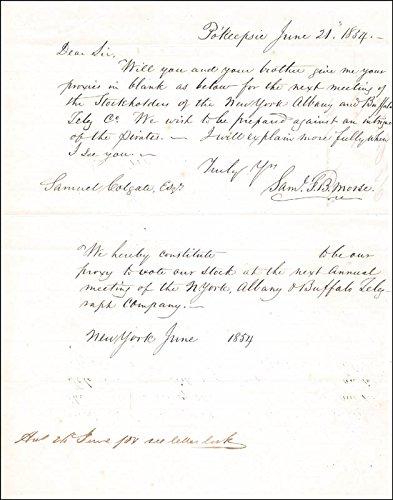 Samuel F. B. Morse Autograph Letter Signed 06/21/1854