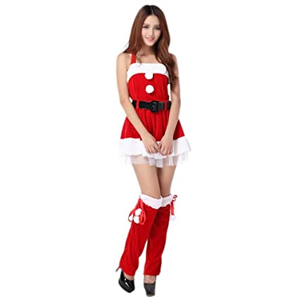Amazon.com: BESTOYARD Women Santa Santa Costumes Christmas ...