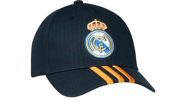 bce14e0ec80 Amazon.com   Real Madrid Spain Soccer Futbol Adidas Adjustable 3-Stripe Hat    Sports   Outdoors