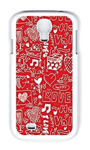 Samsung S4 Case,VUTTOO Cover With Photo: Happy Valentines For Samsung Galaxy S4 I9500 - PC White Hard Case