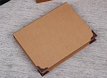 Kraft 6-ring cartón, Chris Wang Cubierta de tamaño A5 con ...